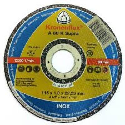 DISCO DE CORTE INOX 4 1/2 x 1,0 x 7/8 CAIXA COM 25 PEÇAS - KLINGSPOR