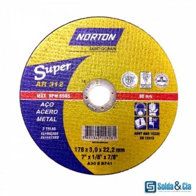 Disco de corte 12x1/8x3/4 ar302 - Norton