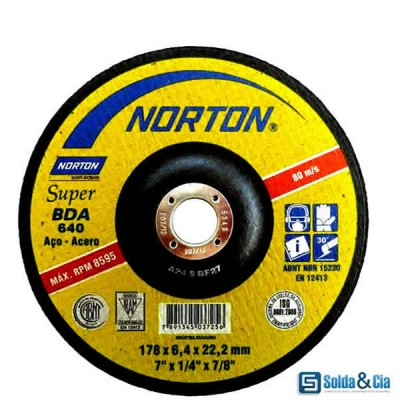 DISCO DE DESBASTE 7 SUPER BDA 640 - NORTON