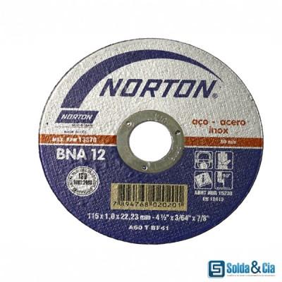 DISCO DE CORTE INOX 7 X 1,6 X 7/8 BNA12 - NORTON