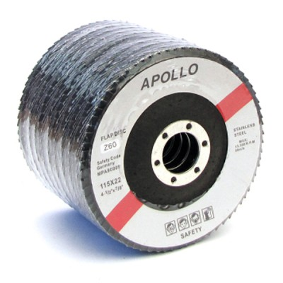 FLAP DISC RED 4 1/2 GR 40 - APOLLO